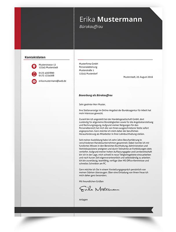 Premium Bewerbungsvorlage #6 - BewerbungsDesigns.de