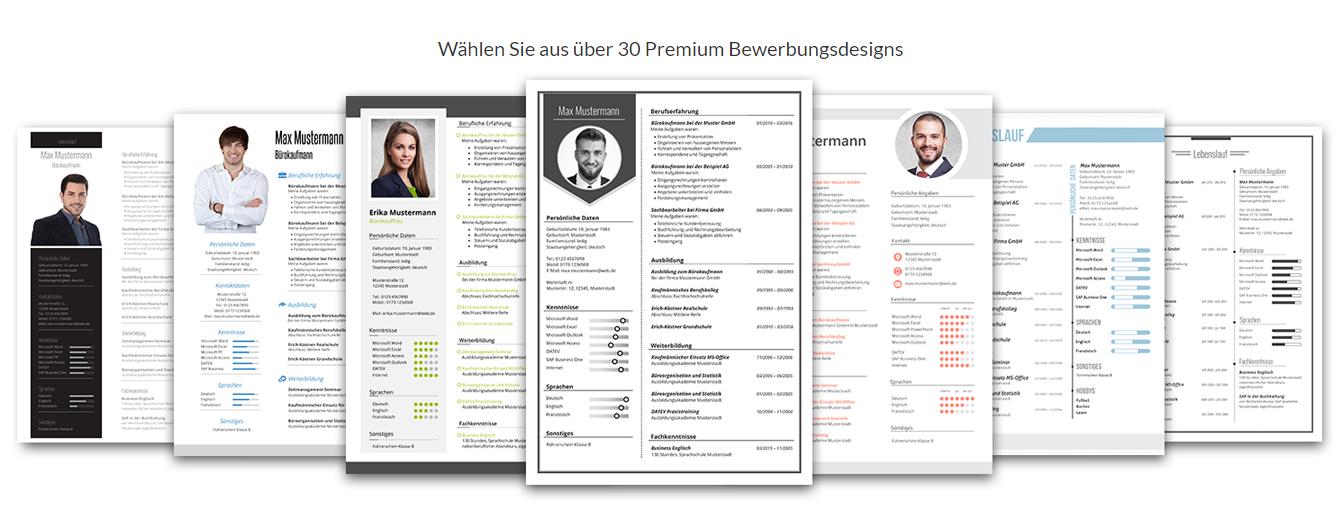 ber 30 premium bewerbungsdesigns - Bewerbungs Vorlagen